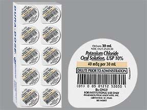 potassium chloride 20 mEq/15 mL oral liquid
