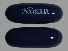 NeevoDHA (with algal oil) 27 mg iron-1.13 mg-581.92 mg capsule