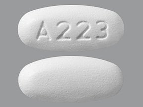 "This medicine is a white, oval, film-coated, tablet imprinted with ""A223""."
