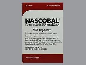 Nascobal 500 mcg/spray nasal spray
