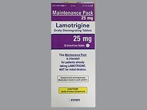 lamotrigine 25 mg disintegrating tablet