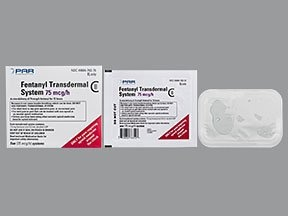 fentanyl 75 mcg/hr transdermal patch