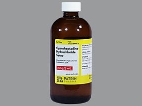 cyproheptadine 2 mg/5 mL oral syrup