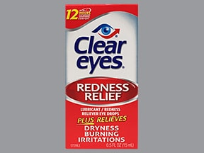 Clear Eyes Redness Relief 0.012 %-0.25 % drops