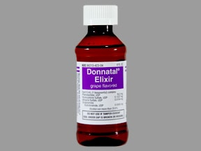 Donnatal 16.2 mg-0.1037mg-0.0194mg/5mL oral elixir