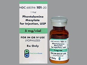 phentolamine 5 mg injection solution