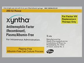 Xyntha 250 (+/-) unit intravenous solution