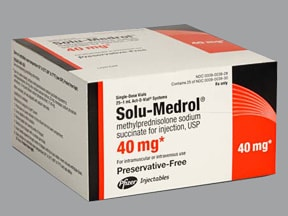 Solu-Medrol (PF) 40 mg/mL solution for injection