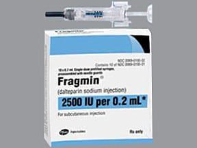 Fragmin 2,500 anti-Xa unit/0.2 mL subcutaneous syringe