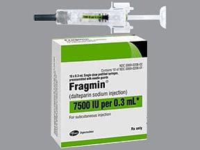 Fragmin 7,500 anti-Xa unit/0.3 mL subcutaneous syringe