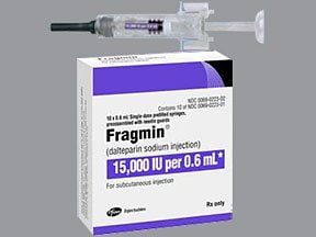 Fragmin 15,000 anti-Xa unit/0.6 mL subcutaneous syringe