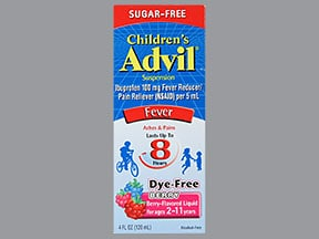 Children's Advil 100 mg/5 mL oral suspension