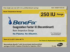 BeneFIX 250 unit intravenous solution