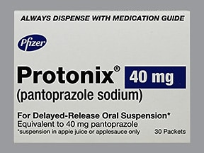 Protonix 40 mg granules delayed-release packet