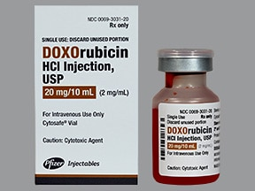 doxorubicin 20 mg/10 mL intravenous solution