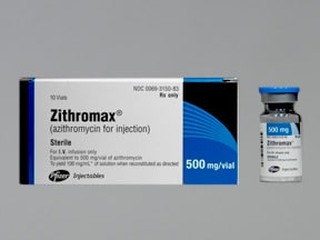 Zithromax 500 mg intravenous solution