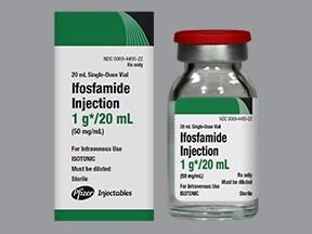 ifosfamide 1 gram/20 mL intravenous solution