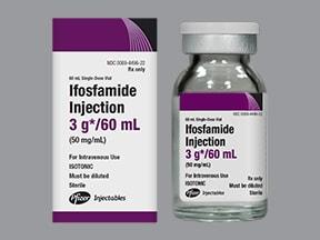 ifosfamide 3 gram/60 mL intravenous solution