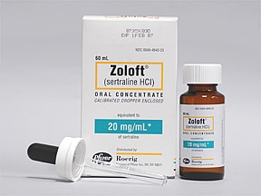 Zoloft 20 mg/mL oral concentrate
