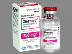 Zinecard (as HCl) 250 mg intravenous solution