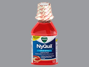 Vicks Nyquil Nighttime Relief 6.25 mg-15 mg-325 mg/15 mL oral liquid