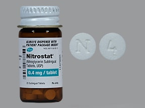 Nitrostat 0.4 mg sublingual tablet
