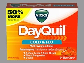 Vicks DayQuil Cold and Flu Relief 5 mg-10 mg-325 mg capsule