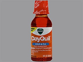 Vicks DayQuil Cold and Flu Relief 5 mg-10 mg-325 mg/15 mL oral liquid