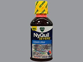 Vicks Nyquil Severe Cold Flu Oral Uses Side Effects Interactions