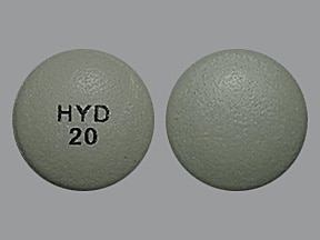 Hysingla ER 20 mg tablet, crush resistant, extended release