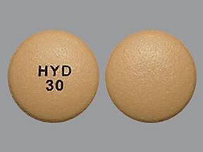 Hysingla ER 30 mg tablet, crush resistant, extended release