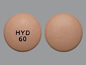 Hysingla ER 60 mg tablet, crush resistant, extended release