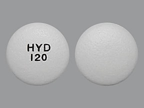 Hysingla ER 120 mg tablet, crush resistant, extended release