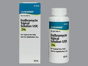 erythromycin with ethanol 2 % topical solution