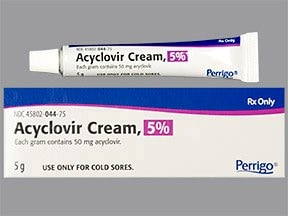 acyclovir 5 % topical cream