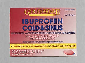 Ibuprofen Cold-Sinus (with pseudoephedrine) 30 mg-200 mg tablet