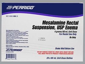 mesalamine 4 gram/60 mL enema