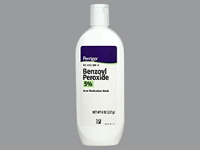 benzoyl peroxide 5 % topical cleanser