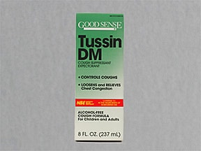 Tussin DM Cough and Chest 10 mg-100 mg/5 mL syrup