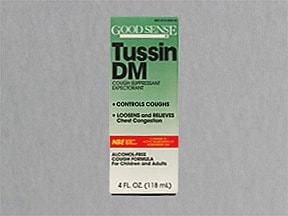 Tussin DM 10 mg-100 mg/5 mL syrup