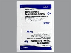testosterone 1.62 % (40.5 mg/2.5 gram) transdermal gel packet