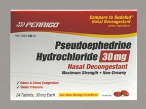 pseudoephedrine 30 mg tablet
