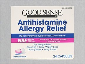 Allergy Relief (Diphenhydramine) Oral : Uses, Side Effects