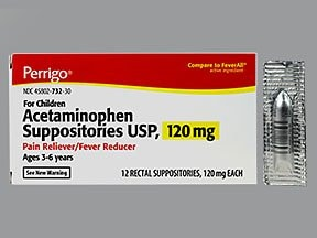 acetaminophen 120 mg rectal suppository