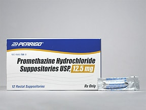 promethazine 12.5 mg rectal suppository