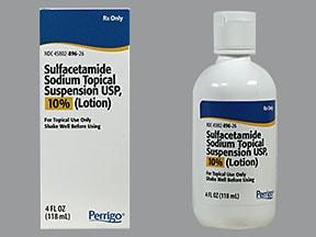 sulfacetamide sodium (acne) 10 % lotion (suspension)