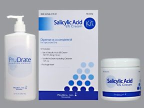 salicylic acid ER-ceramides 1,3,6-11 6 % topical kit,cleanser,cream ER