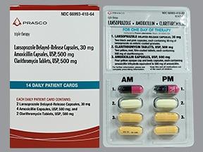 amoxicillin 500 mg-clarithromycin 500 mg-lansoprazole 30 mg combo pack