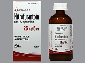 nitrofurantoin 25 mg/5 mL oral suspension