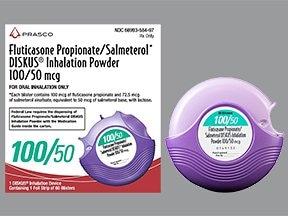 fluticasone 100 mcg-salmeterol 50 mcg/dose blistr powdr for inhalation